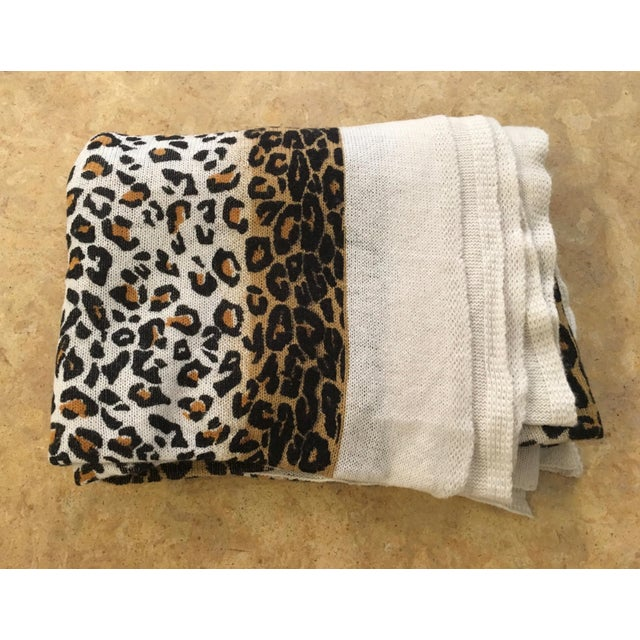Large Thin Leopard Cashmere Throw - Image 6 of 10