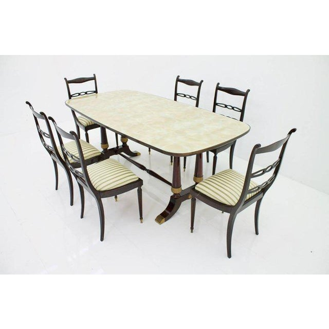 Italien Dining Suite From 1959, Table and Six Chairs For Sale - Image 10 of 10