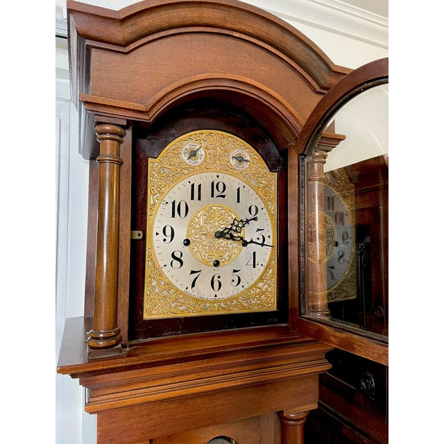 """Antique Waterbury Grandfather Clock - """"801 Hall Chime Clock"""" Model For Sale - Image 10 of 13"""