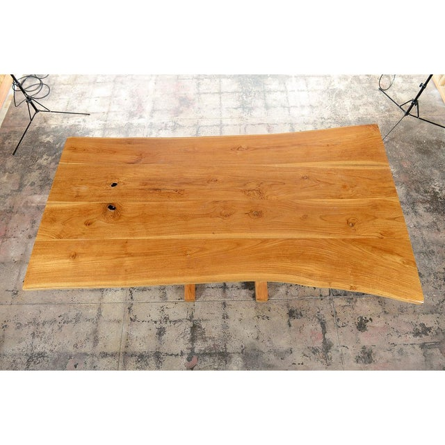 George Nakashima Style Conoid Dining table For Sale In Los Angeles - Image 6 of 10