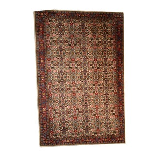 1930s Hand Made Antique Indian Indo-Mahal Rug - For Sale