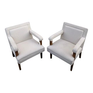 1970s Mid-Century Club Lounge Chairs - a Pair For Sale