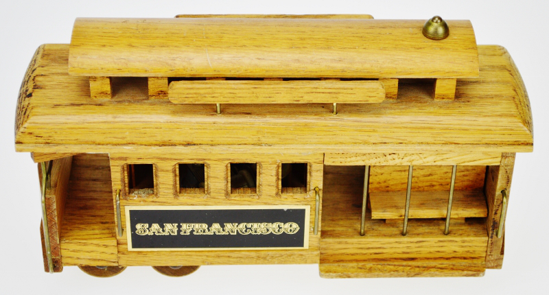 San Francisco Wooden Cable Car Music Box   Image 3 Of 12