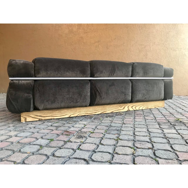 Restored Craft Associates Chrome Sofa For Sale In Tampa - Image 6 of 9