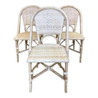 Serena & Lily Riviera Side Chairs - Set of 3 For Sale