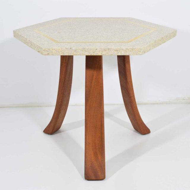 Harvey Probber Hexagonal Terrazzo Side Table For Sale - Image 9 of 9