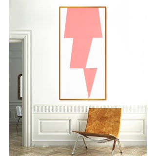 """XL """"Pink Jagged"""" Print by Jason Trotter, 34"""" X 67"""" Preview"""