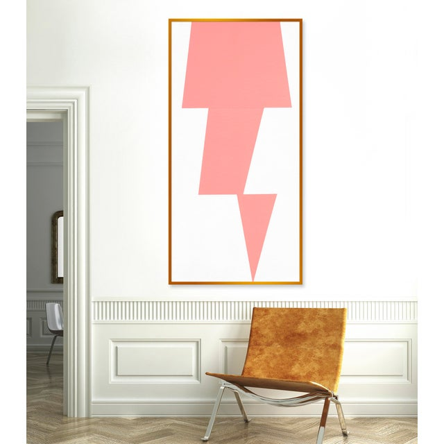 "XL ""Pink Jagged"" Print by Jason Trotter, 34"" X 67"" - Image 2 of 2"