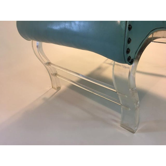 Textile Pair of Grosfeld House Graceful Lucite Lounge Chairs Designed by Lorin Jackson For Sale - Image 7 of 9