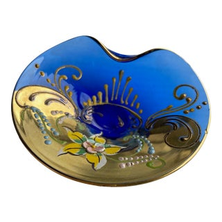 Murano Hand Painted Dish For Sale