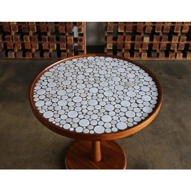 White Gordon Martz Ceramic Tile-Top Occasional Table, Circa 1960 For Sale - Image 8 of 11