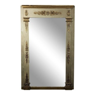 19th Century French Empire Painted Mirror For Sale