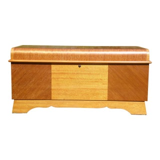 Antique Lane Art Deco Waterfall Cedar Hope Chest Blanket Trunk