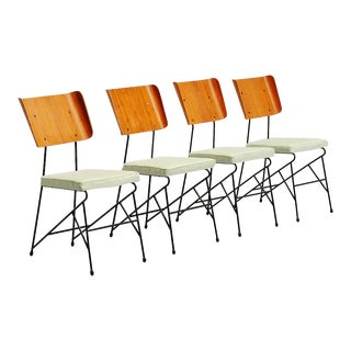 Carlo Ratti Dining Chairs for Legni Curva Italy 1950 - Set of 4 For Sale
