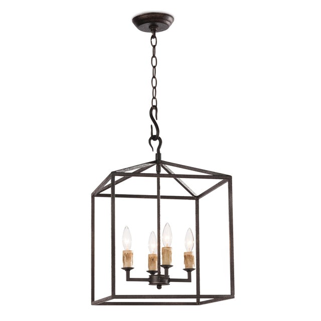 Cape Lantern Small in Black Iron For Sale In Detroit - Image 6 of 6