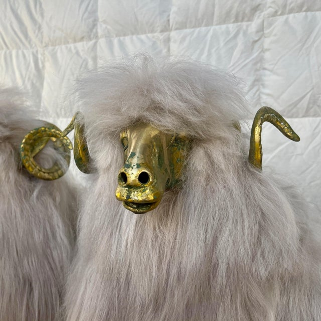Lalanne Style Bronze Sheep Sculptures - a Pair For Sale - Image 4 of 11