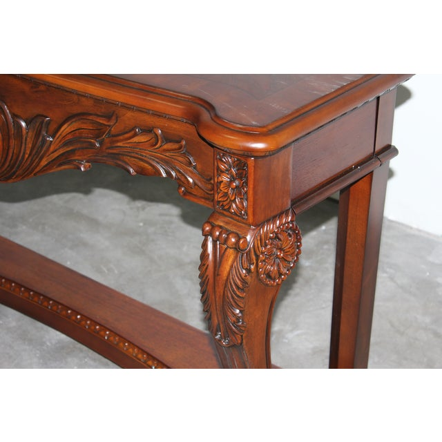 Carved Wood Coffee Table - Image 5 of 6