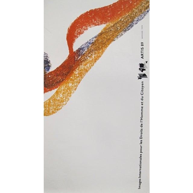 1980s 1989 Original Poster for Artis 89's Images Internationales Pour Les Droits De l'Homme Et Du Citoyen - Article Premier For Sale - Image 5 of 6