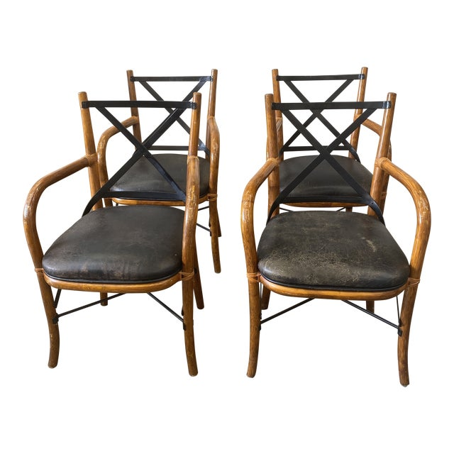 Vintage Thonet Dining Chairs - Set of 4 For Sale