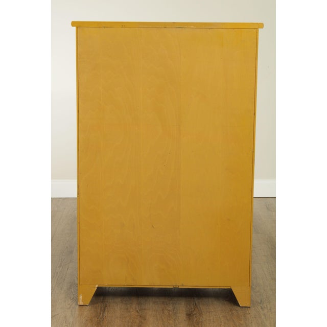1970s Hitchcock Vintage Yellow Painted Tall Chest of Drawers For Sale - Image 5 of 13