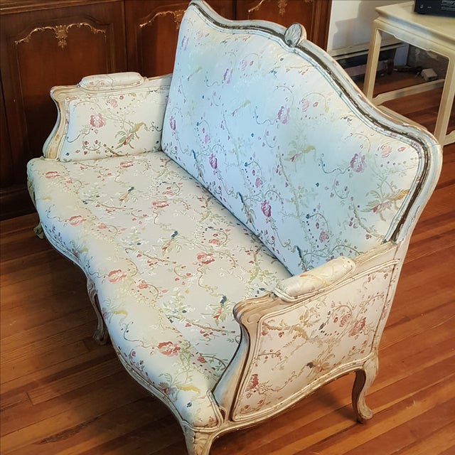 19th Century French Provincial Loveseat Settee For Sale - Image 5 of 10