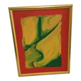 Image of 1970s Vintage Abstract Unsigned Painting For Sale