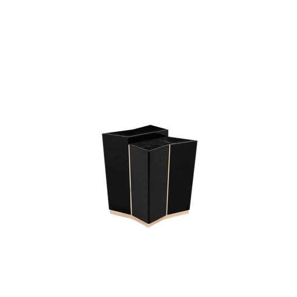 Beyond side table boasts elegance and discerning taste through inspirational symmetrical design. Featuring both...
