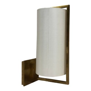 Visual Comfort Framework Wall Sconce in Soft Brass For Sale