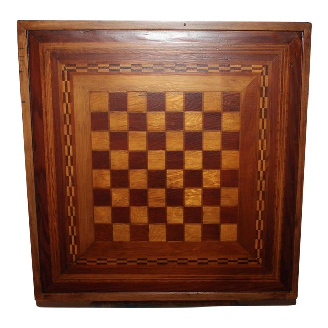 Early 20th Century Reversible Inlaid Wood Gameboard - Image 1 of 5