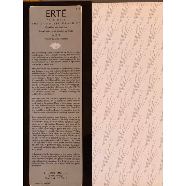"""Illustration """"Erte at Ninety the Complete Graphics"""" Book For Sale - Image 3 of 7"""