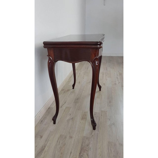 Louis XV 19th Century Italian Louis XV Style Rosewood Game Table For Sale - Image 3 of 10