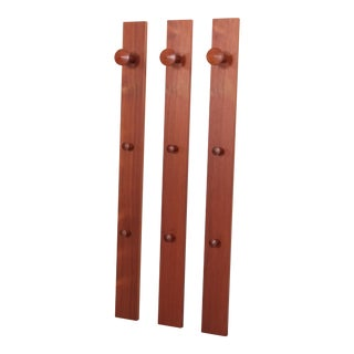 Set of Three Aksel Kjersgaard Coat Hangers Wardrobe in Teak for Odder, Denmark For Sale
