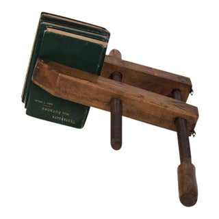 Vintage Wooden Book Clamp For Sale