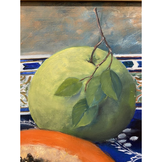 """White Carmen Galigarcia """"Cuban Kitchen"""" Original Oil on Canvas Painting For Sale - Image 8 of 10"""