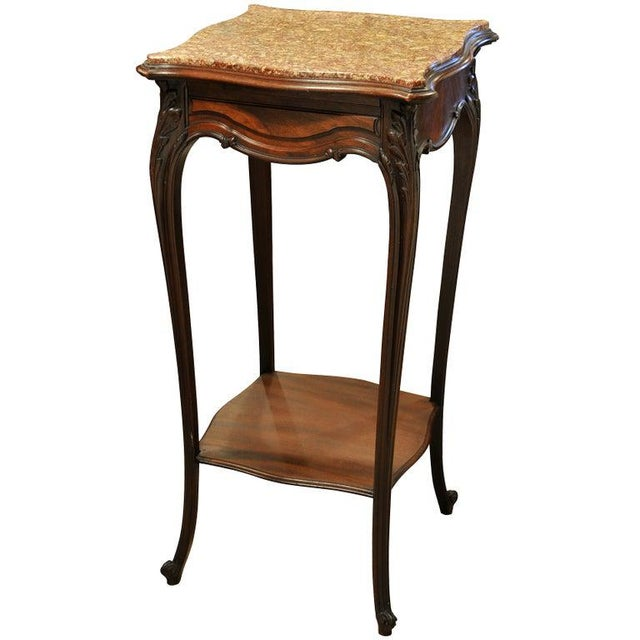 Stone Vintage French Marble Top Stand For Sale - Image 7 of 7