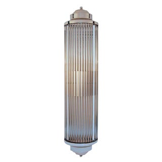 Art Deco Style Grand Theater Glass Rod Wall Sconce For Sale