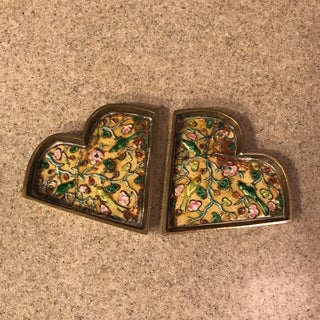Chinese Brass Cloisonné Trinket Dishes - a Pair Preview