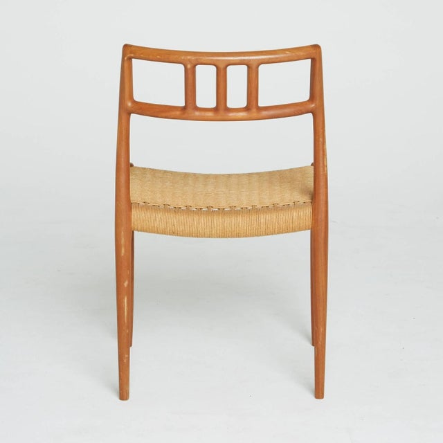 Niels Otto Møller Teak and Woven Cord Chair by Niels Moller For Sale - Image 4 of 5