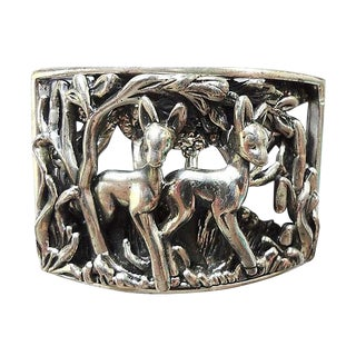 Napier Book Piece Fawns Brooch Pin, 1965 For Sale