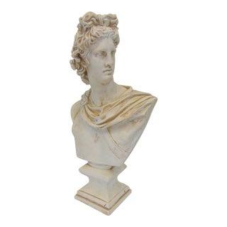 Roman Male Figural Plaster Statue For Sale