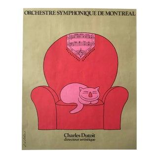 1967 Original Poster for the Orchestre Symphonique De Montreal, Charles Dutoit For Sale