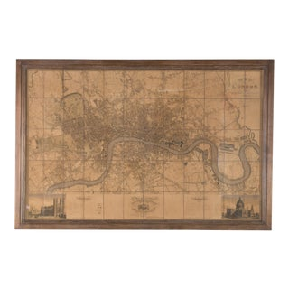 Framed Map of London For Sale