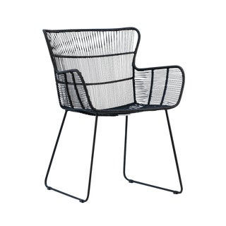 Black Rope Outdoor Arm Chair For Sale