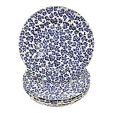 Image of Vintage Mid-Century Ironstone Blueberry Motif Plates - Set of 6 For Sale