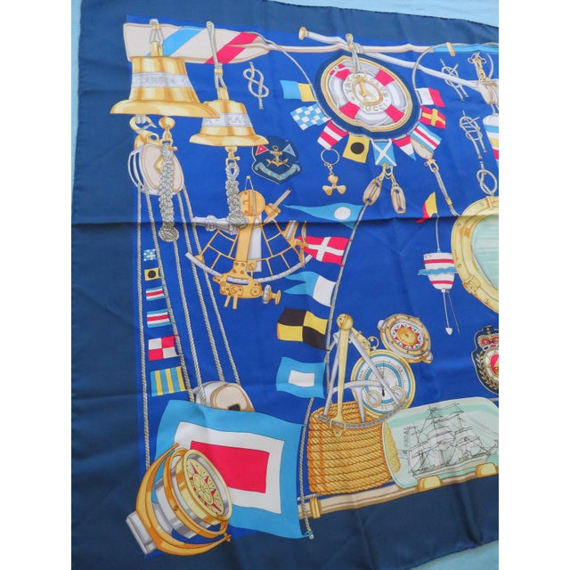 1990s Vintage Gucci Nautical Silk Scarf For Sale - Image 5 of 13