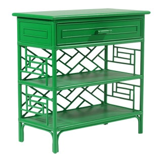 Chippendale End Table - Bright Green For Sale