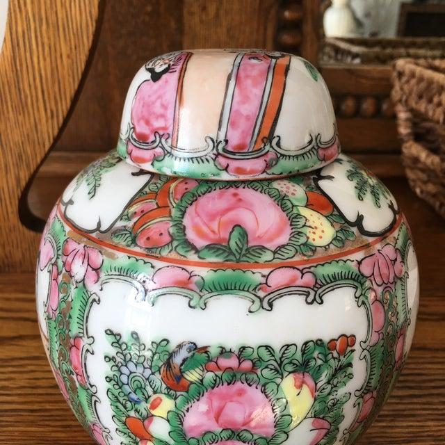 Petite Rose Medallion Ginger Jar For Sale - Image 11 of 13