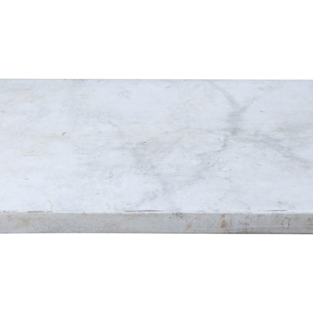 Faux Marble-Top Console For Sale - Image 9 of 10
