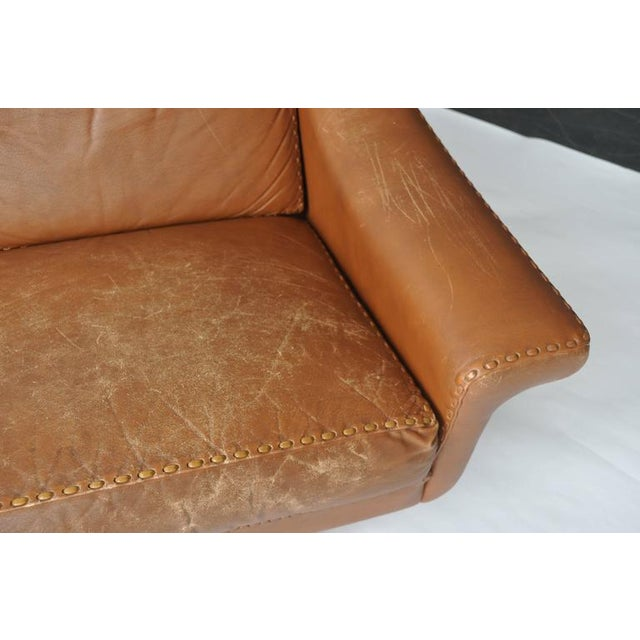 Aage Christiansen Danish Leather Sofa, 1960s For Sale - Image 9 of 9