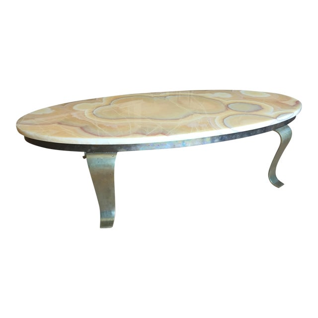 Alabaster Coffee Table - Image 1 of 6